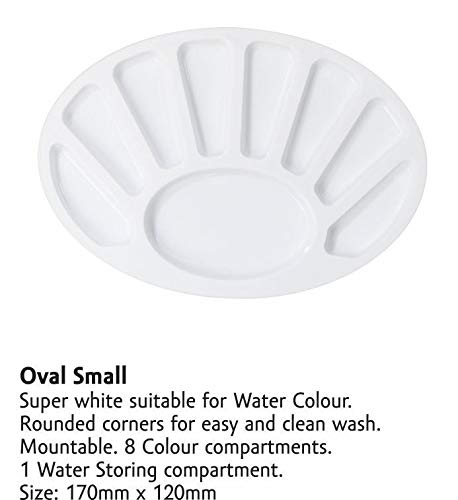 Khyati Color Mixing Plate Small Oval