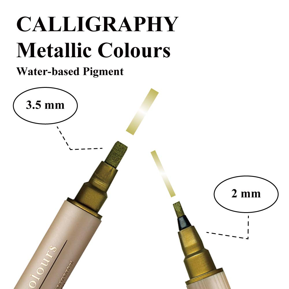 Zig Memory System - Metallic Calligraphy Pen Set