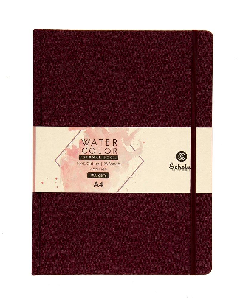 Scholar A4 WATERCOLOR JOURNAL - 300 GSM 100% COTTON (WJ4)