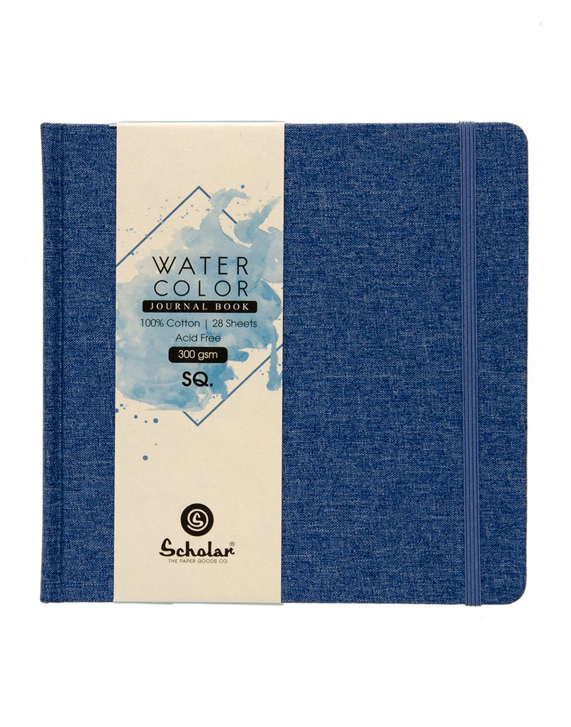 Scholar SQ. WATERCOLOR JOURNAL (BLUE) - 300 GSM 100% COTTON (WJ6)