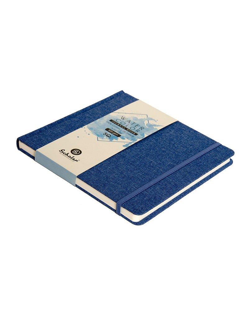 Scholar SQ. WATERCOLOR JOURNAL (BLUE) - 300 GSM 100% COTTON (WJ6)