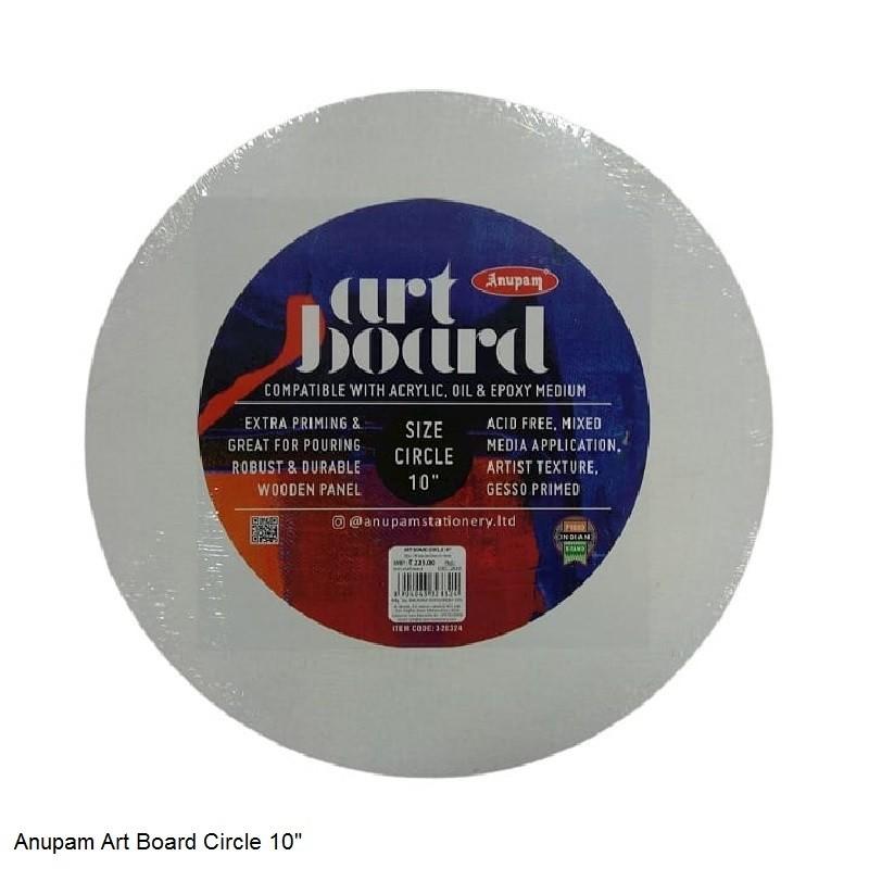"ANUPAM ART BOARD CIRCLE SIZE 10"""