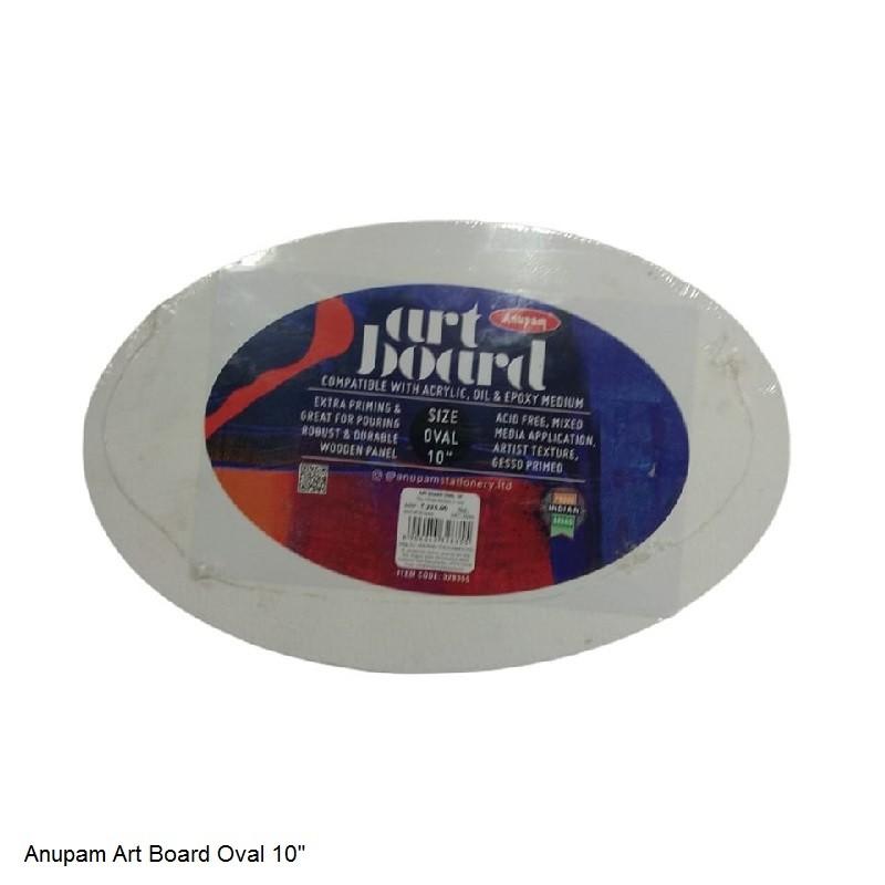 "ANUPAM ART BOARD OVAL SIZE 10"""