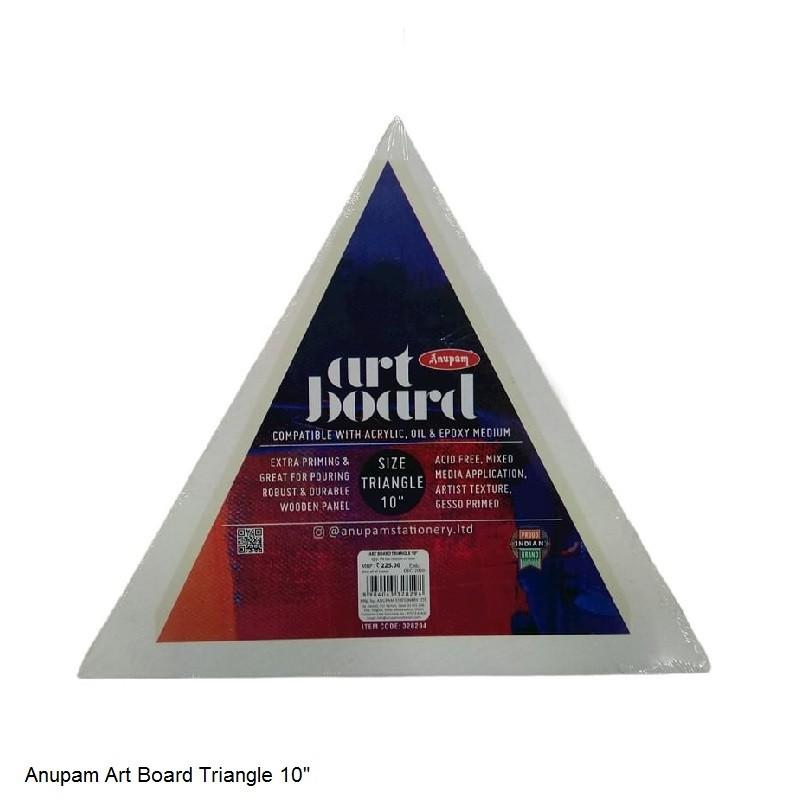 "ANUPAM ART BOARD TRIANGLE SIZE 10"""