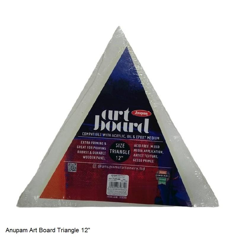 "ANUPAM ART BOARD TRIANGLE SIZE 12"""
