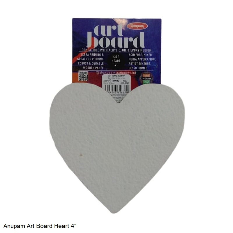 """ANUPAM ART BOARD HEART SIZE 4"""""""