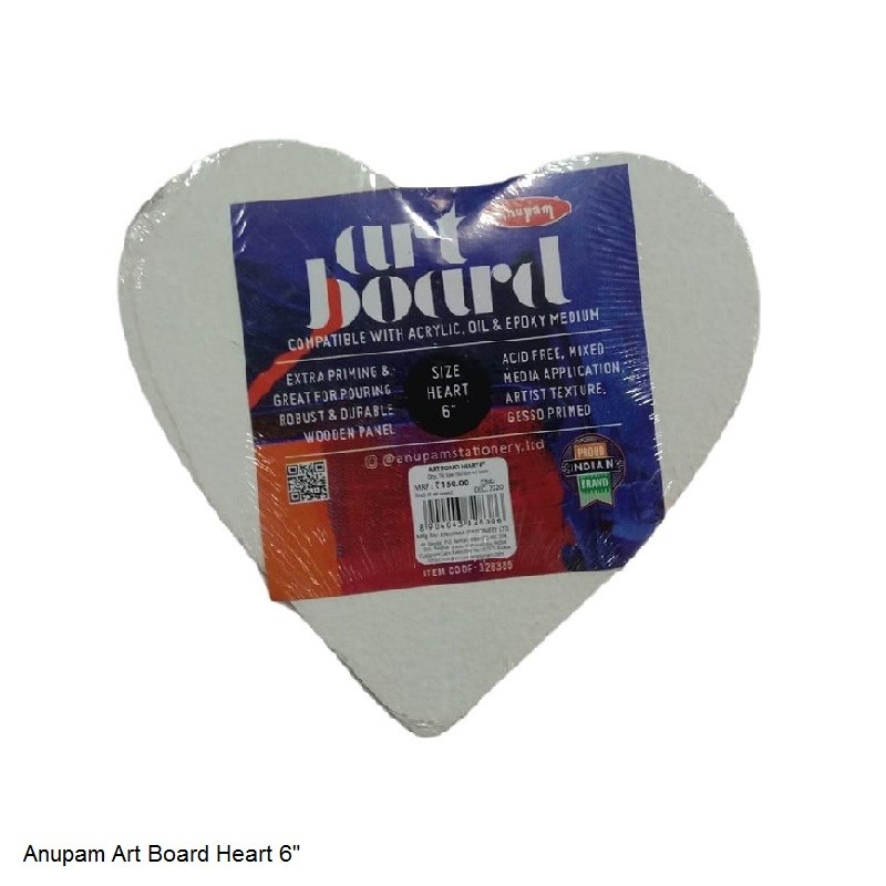 ANUPAM ART BOARD HEART SIZE 6""
