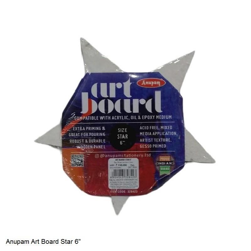 """ANUPAM ART BOARD STAR SIZE 6"""""""
