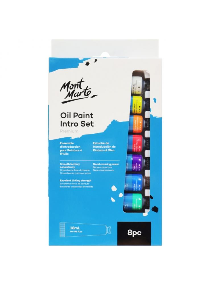 Mont Marte Oil Paint Intro Set Premium 8pce x 18ml