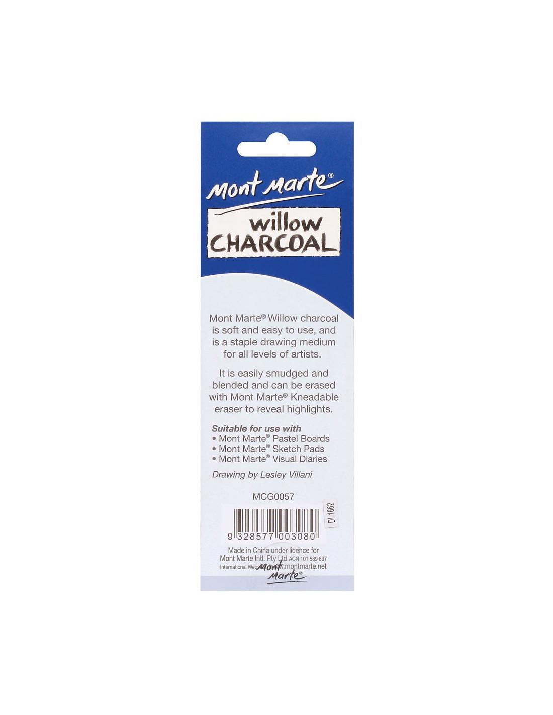 Mont Marte Willow Charcoal (12pcs) - MCG0057