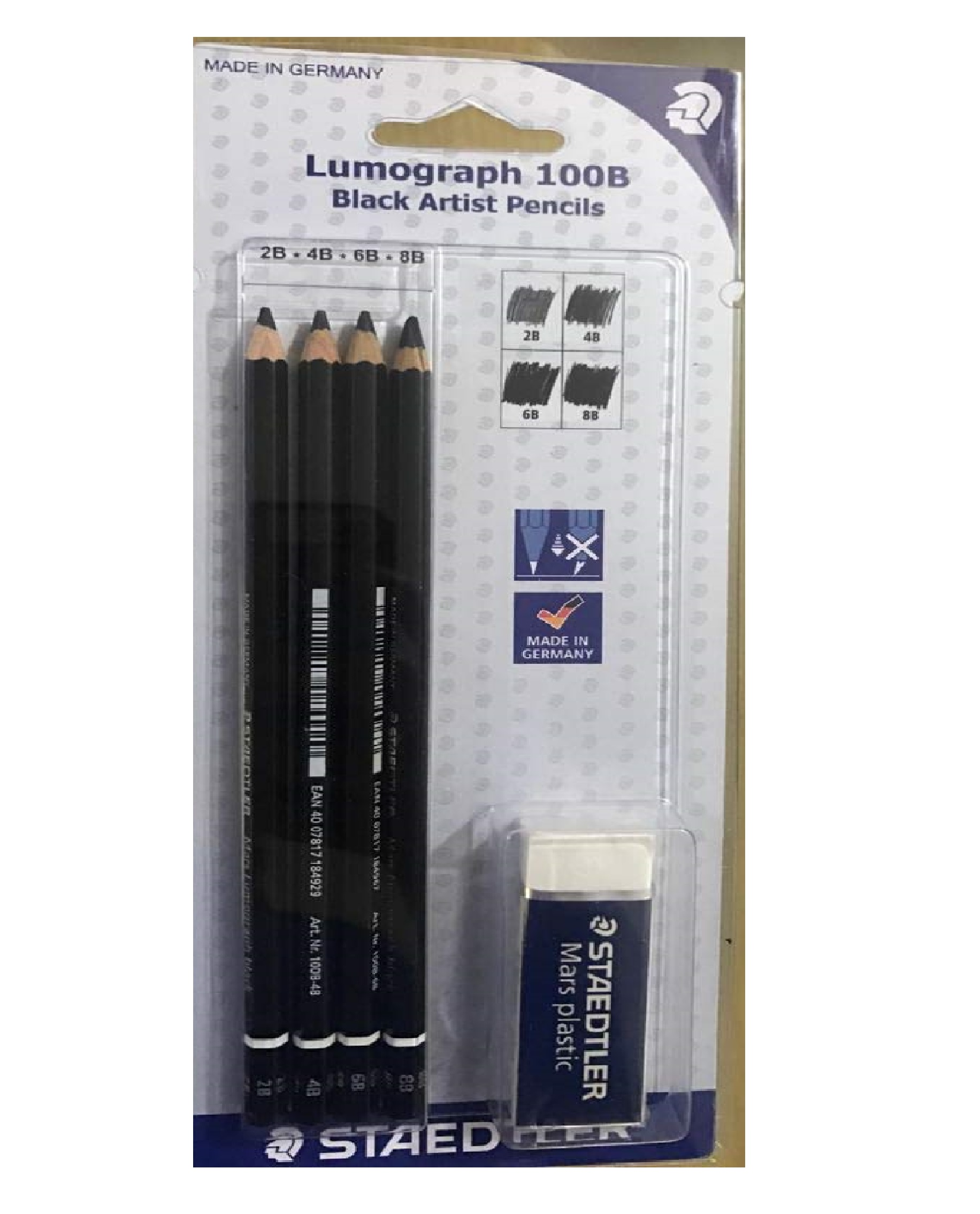 Staedtler Mars Lumograph Artist Pencil Set (Black)