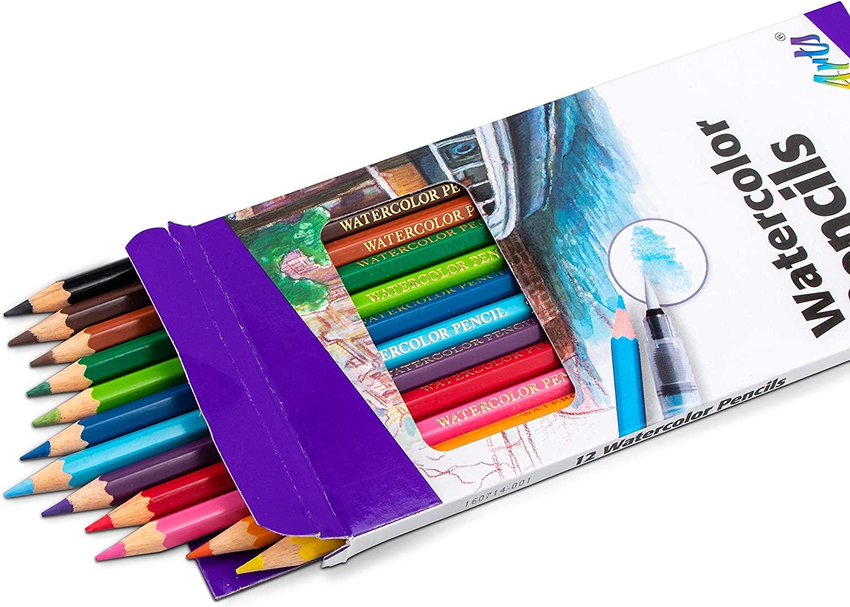 Pentel Arts Watercolor Pencil Set, 12 color set (CB9-12)