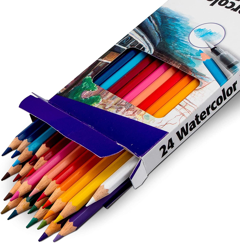 Pentel Arts Watercolor Pencils 24 Assorted (CB9-24)