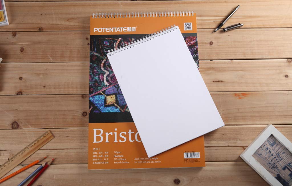 ARTRACK Bristol Smooth Paper A4 Pad, 36 Sheets 240 GSM Paper