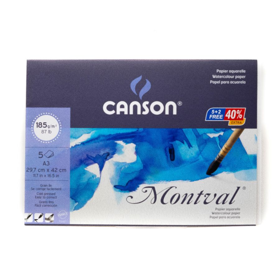 Canson Montval A3 5 Sheets 185gsm