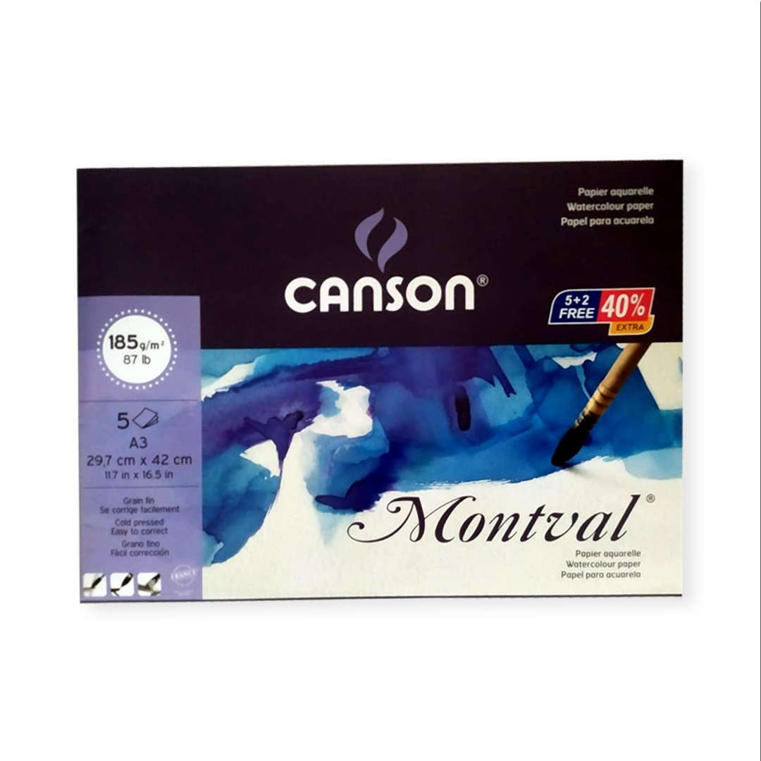 Canson Montval A5 20 sheets 185gsm