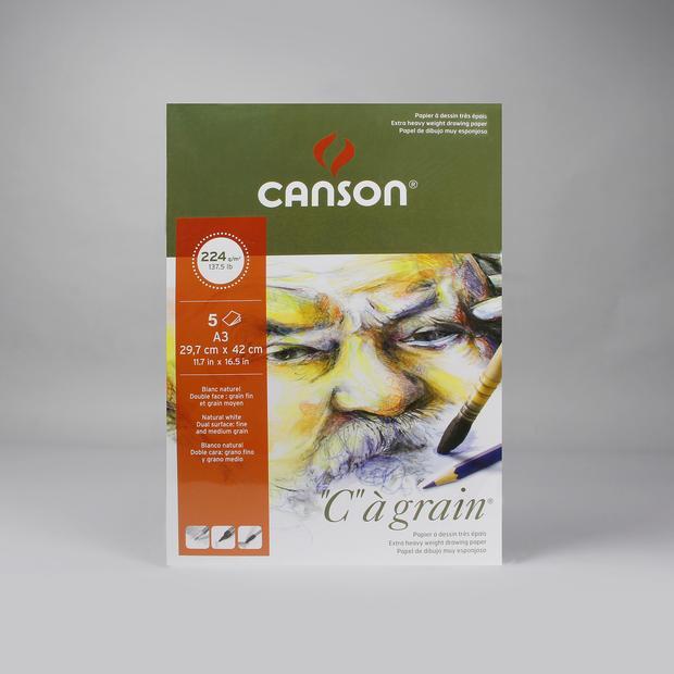 Canson C-A Grain 224 GSM A3 (5 Sheets)