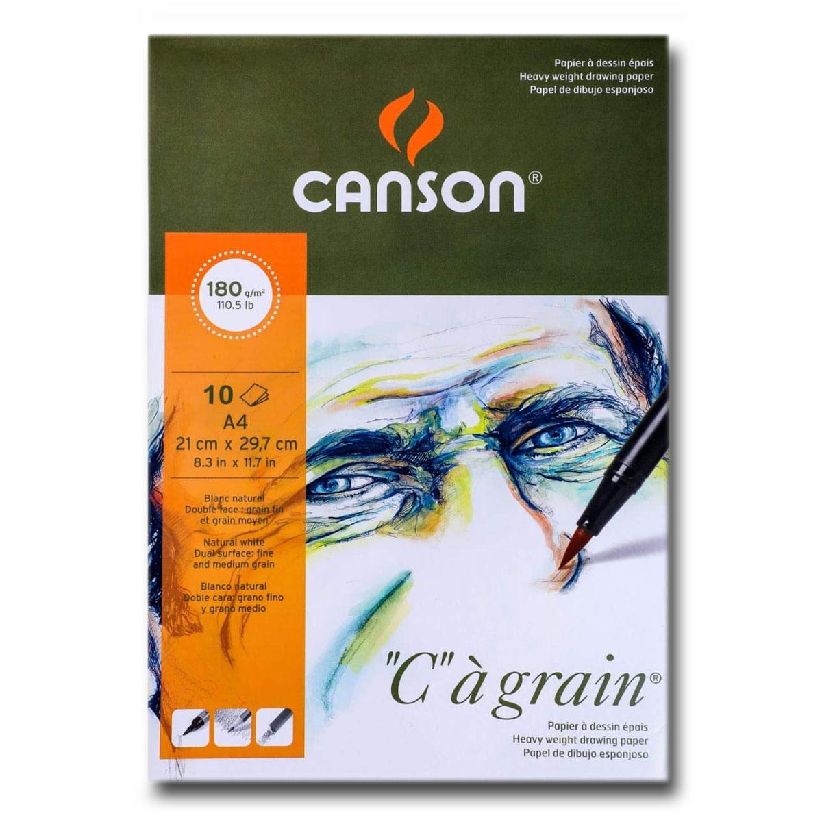 Canson C-A Grain 224gsm A4 10 Sheet