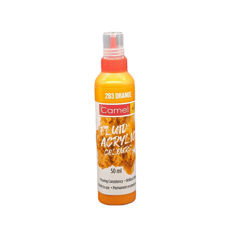 Camel Fluid Acrylic Colours 50ml 283 Orange