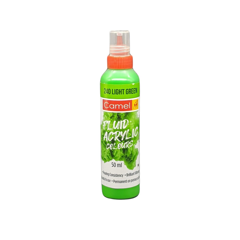 Camel Fluid Acrylic Colours 50ml 240 Light Green