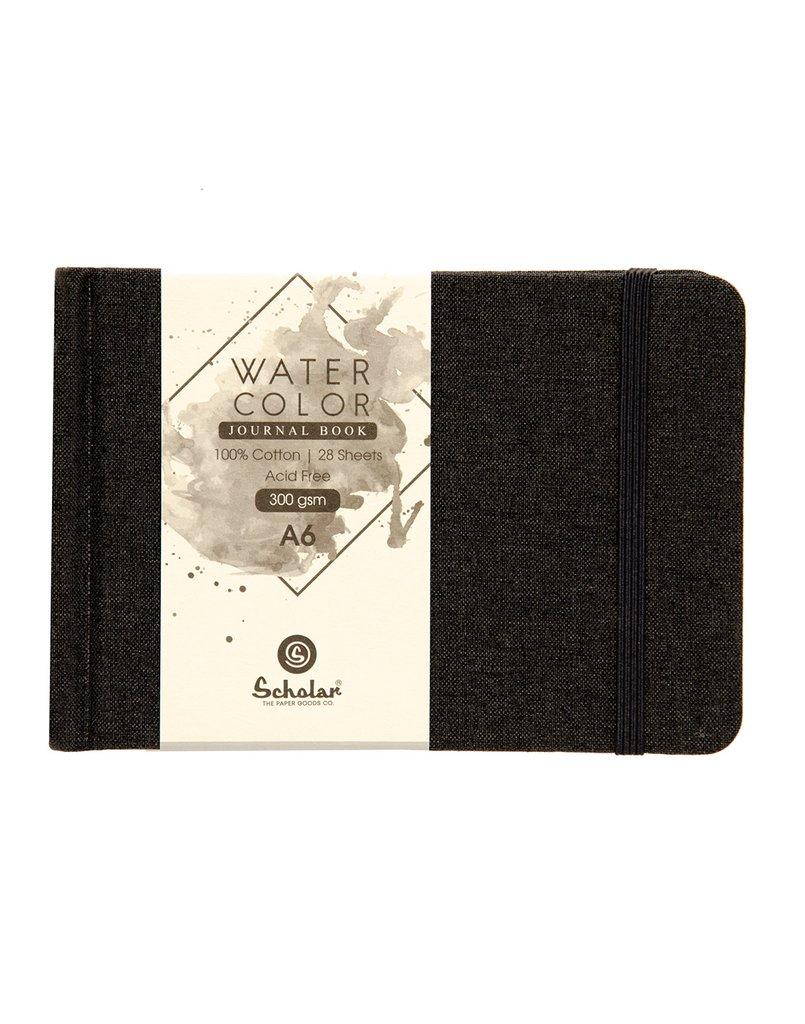 Scholar A6 WATERCOLOR JOURNAL (BLACK)  300 GSM (WJ1 C)