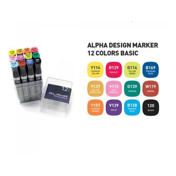 ALPHA Design Marker 12 Set