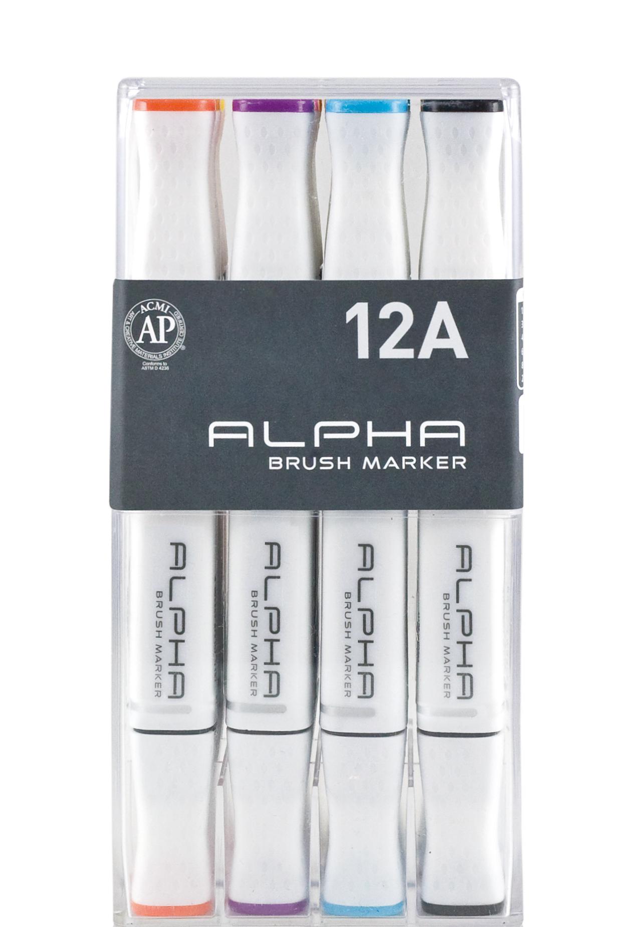 ALPHA Marker 12A Brush Marker - Basic Set