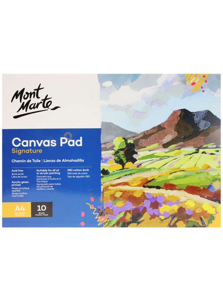 Mont Marte Signature Canvas Pad 10 Sheet A4 (8.3 x 11.7in)