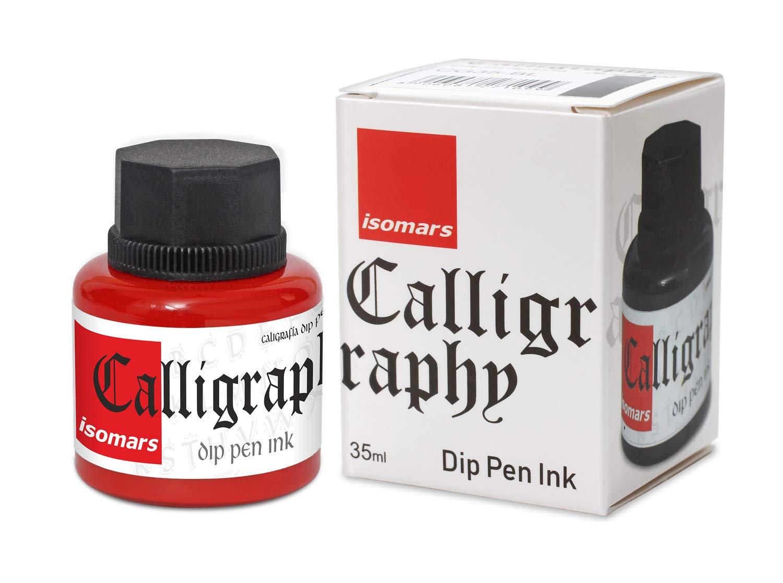 Isomars Calligraphy Dip Pen Ink 35ml - Red