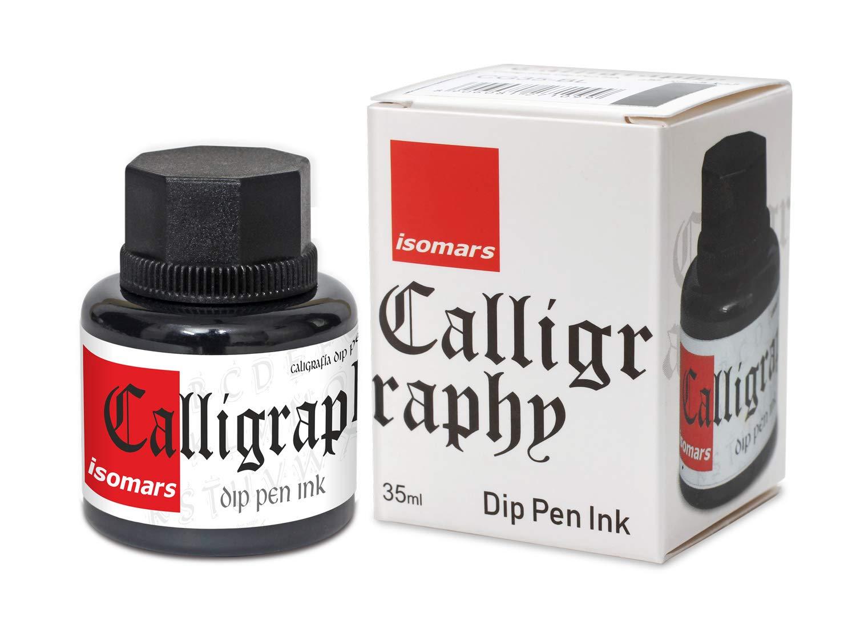 Isomars Calligraphy Dip Pen Ink 35ml - Black