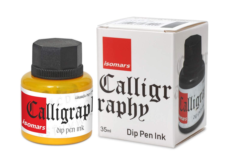 Isomars Calligraphy Dip Pen Ink 35ml - Yellow