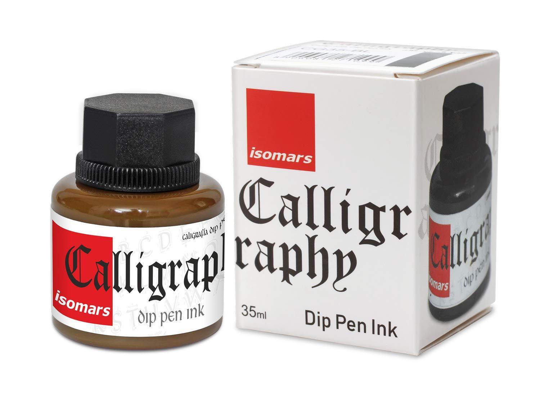 Isomars Calligraphy Dip Pen Ink 35ml - Brown