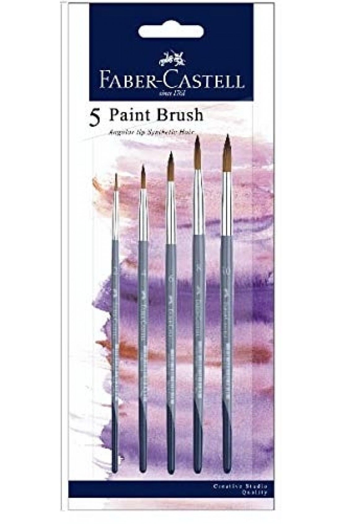 Faber-Castell Flat Synthetic Round Brushes (6,8,12,14,16)