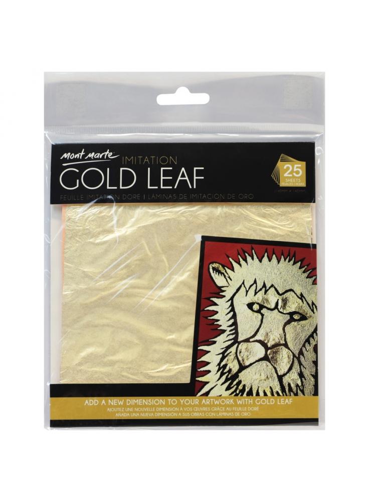 Mont Marte Imitation Gold Leaf 14x14cm 25 Sheet