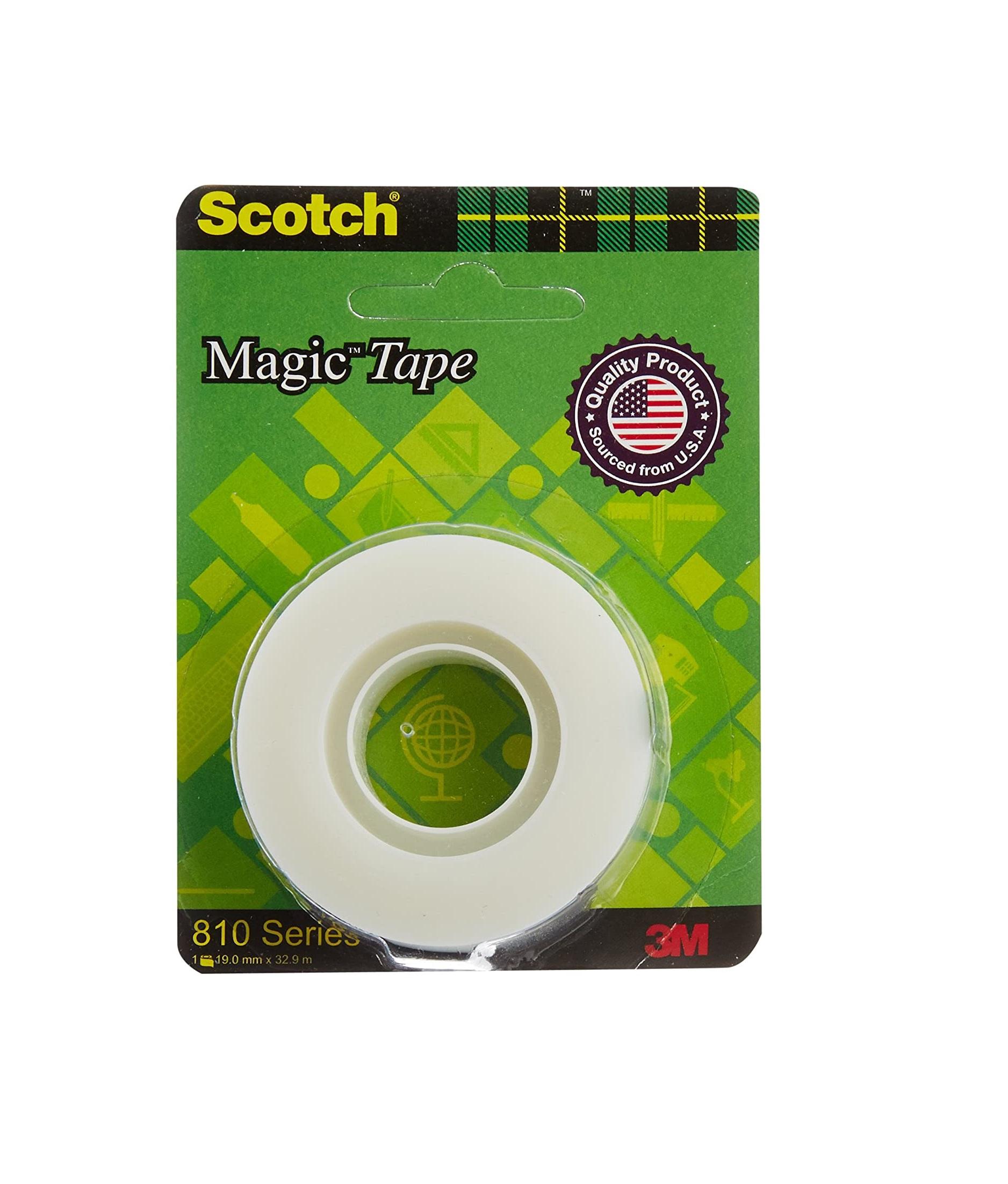 Scotch Magic Blaster Transparent Tape, 19 mm x 32.9 m