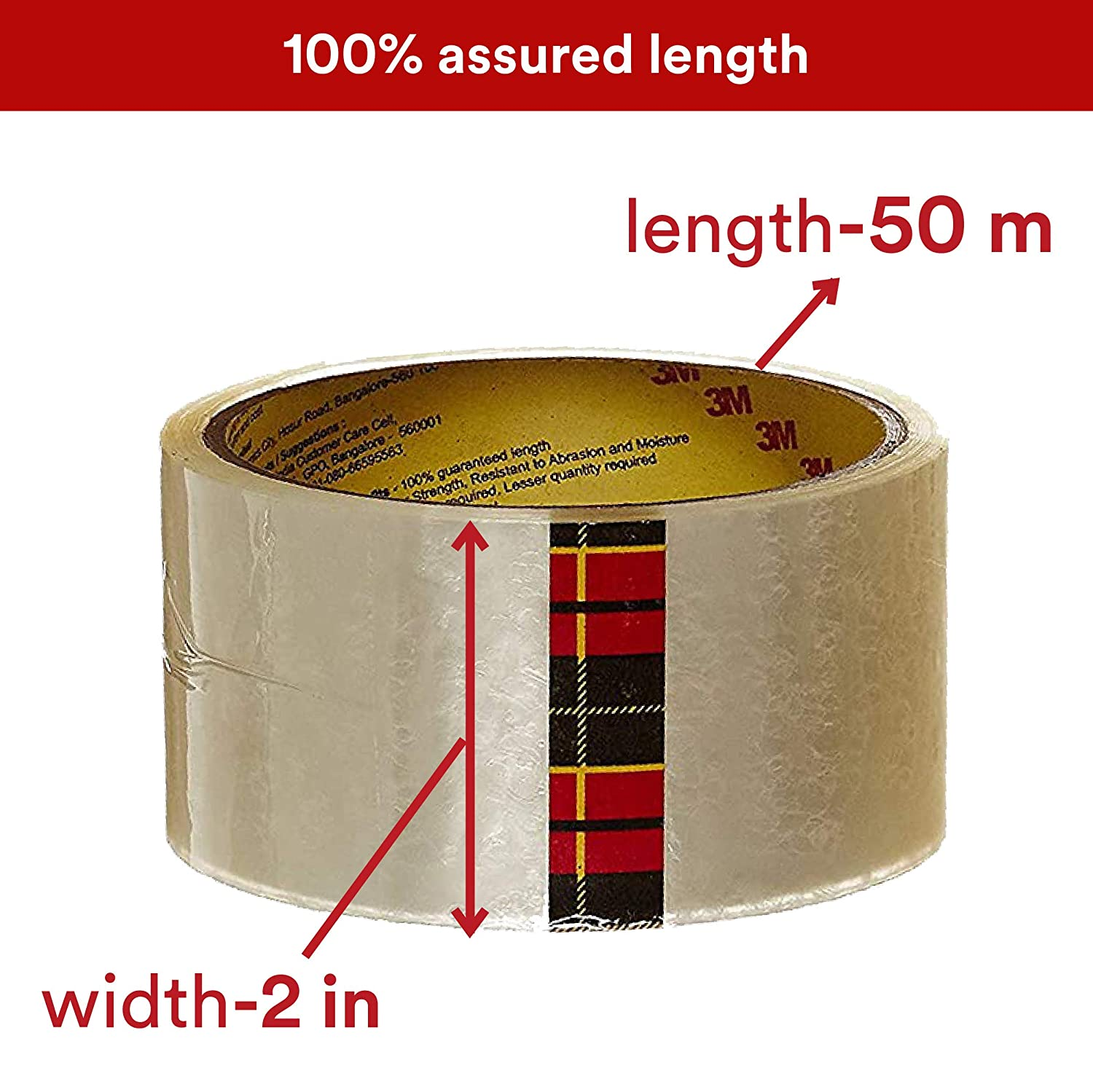"""Scotch Packing Tape 2""""x50m Clear (Pack of 1)"""