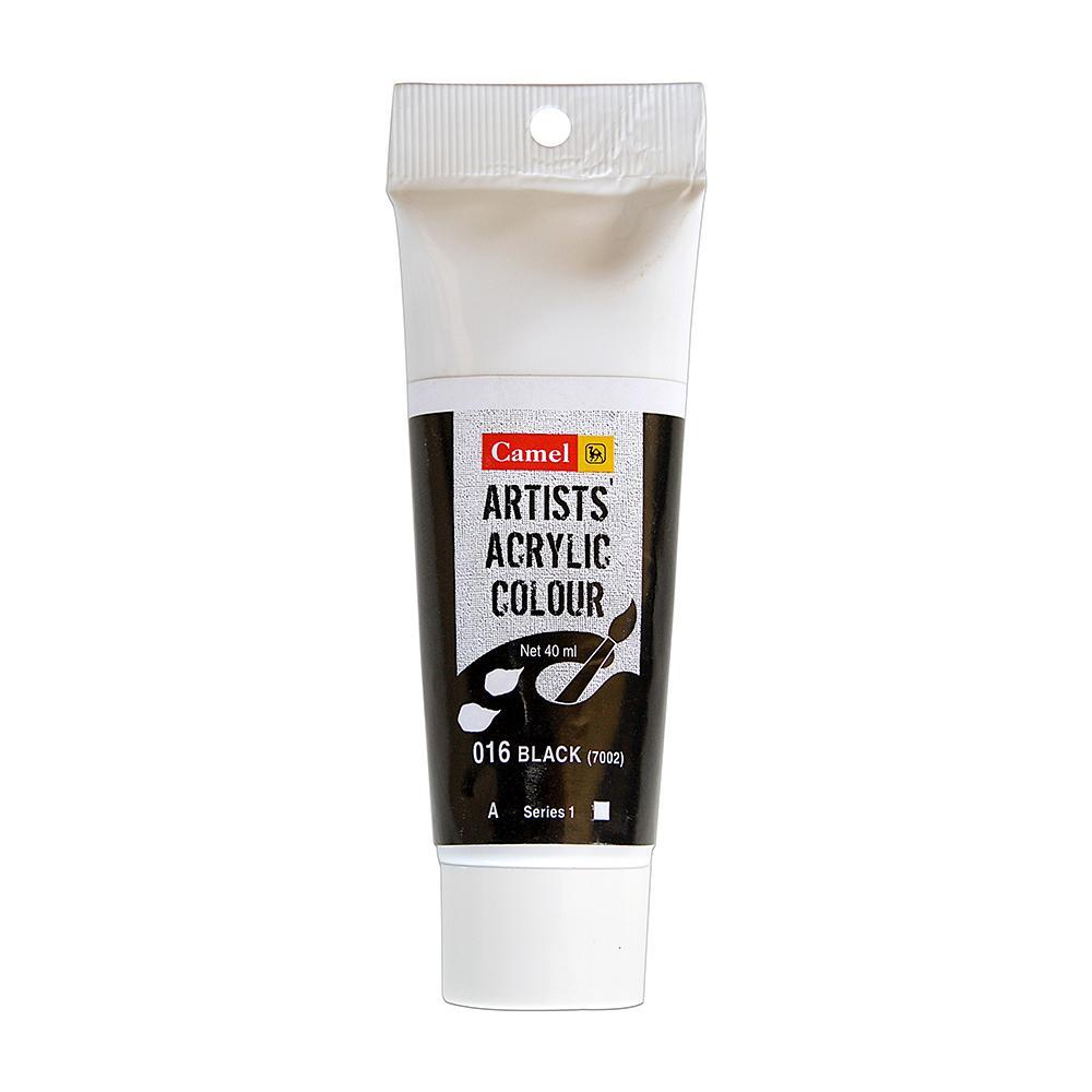Camlin Artists Acrylic Colour Black (016), 40 Ml