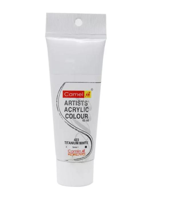 Camel Artists Acrylic Colour (40ml)- Titanium White (423)