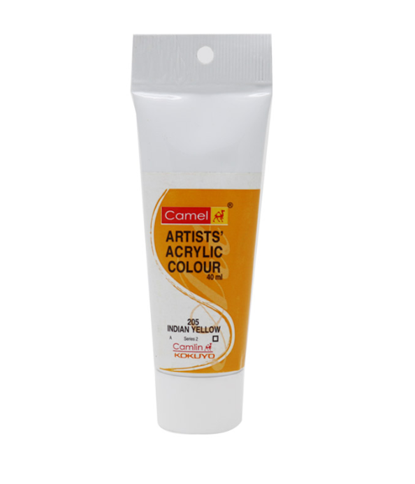 Camel Artists Acrylic Color Indian Yellow 205, 40 Ml