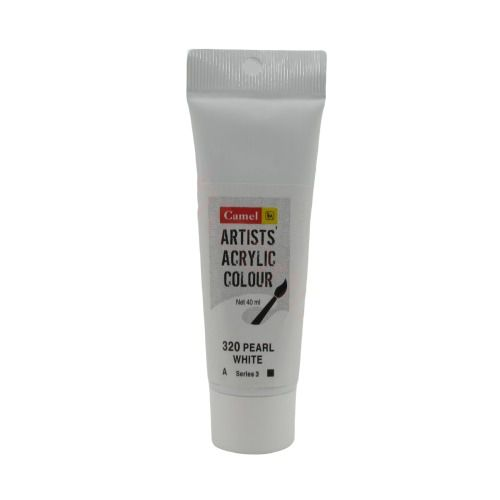 Camel Artists Acrylic Colour, 40ml PEARL WHITE 320