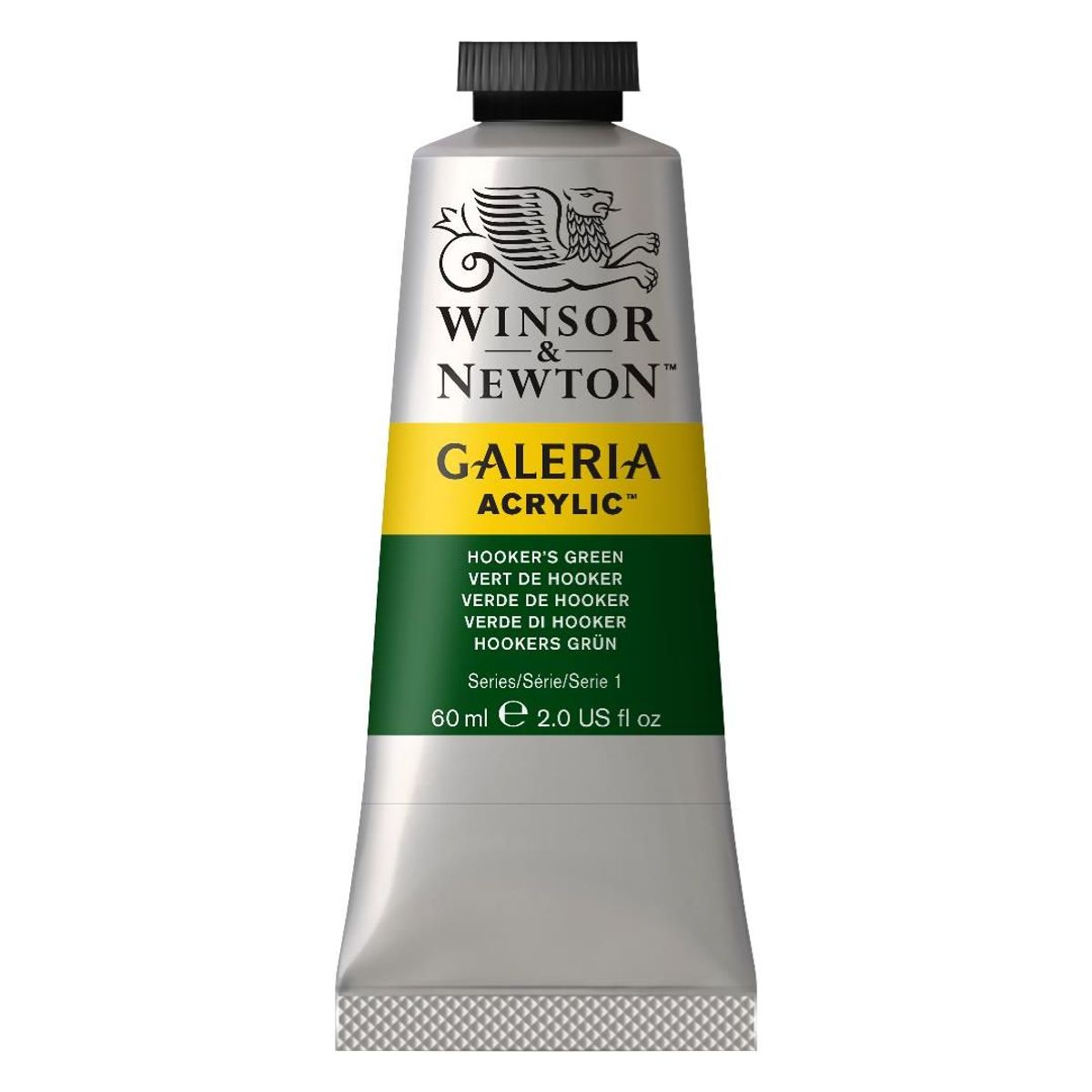 WINSOR AND NEWTON GALERIA ACRYLIC COLOUR - TUBE OF 60 ML - HOOKER'S GREEN (311)