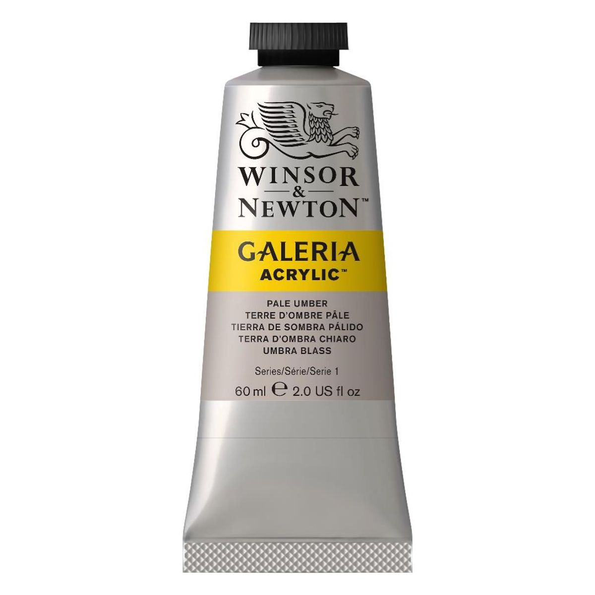 WINSOR AND NEWTON GALERIA ACRYLIC COLOUR - TUBE OF 60 ML - PALE UMBER (438)