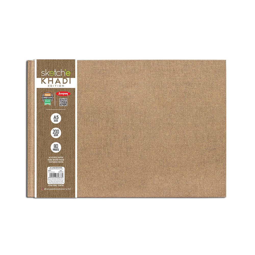 Anupam A5 Khadi Sketch Book Edition (80 Pages) 200 GSM