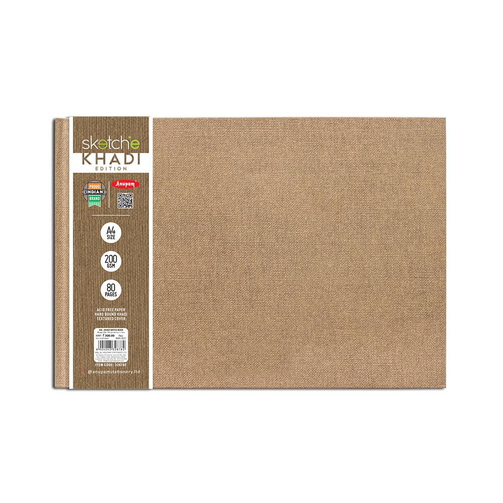 Anupam A4 Khadi Sketch Book Edition (80 Pages) 200 GSM