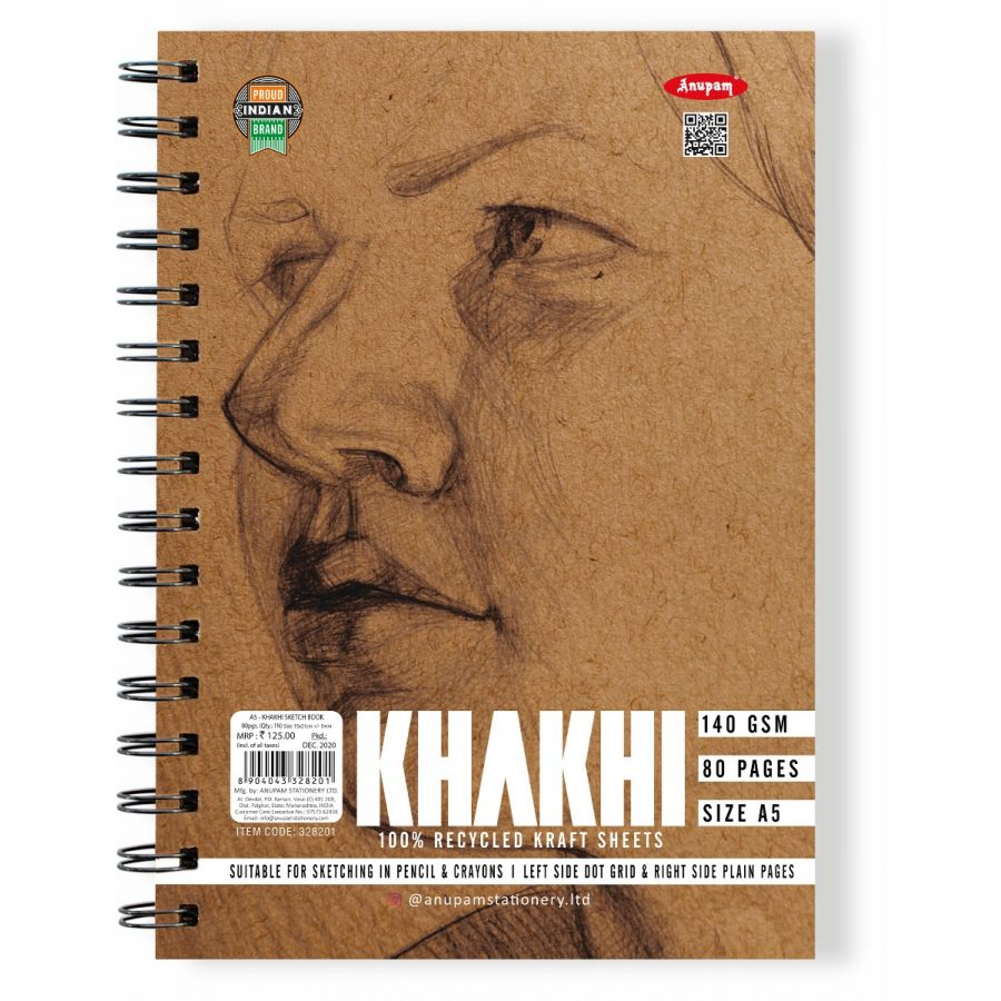 Anupam A5 Khadi Sketch Book Edition (80 Pages) 140 GSM