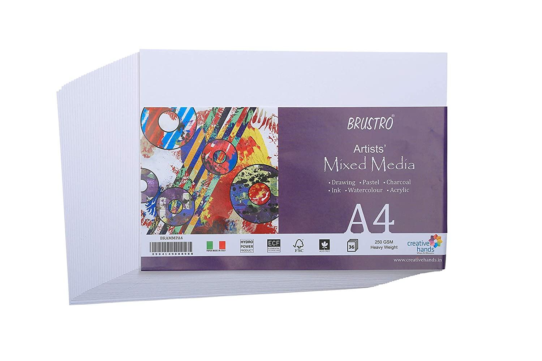 Brustro Artists Mixed Media Paper A4, 250 GSM, 36 Sheets