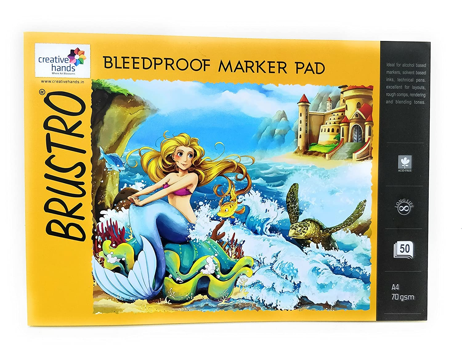 Brustro Bleedproof Marker Pad 70 GSM A4 (50 Sheets)