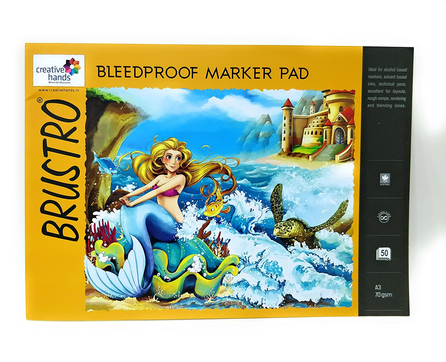 Brustro Bleedproof Marker Pad 70 GSM A3 (50 Sheets)