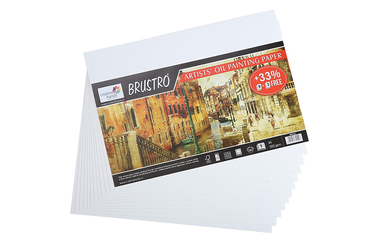 Brustro Artists Oil Painting Paper 300 GSM A4