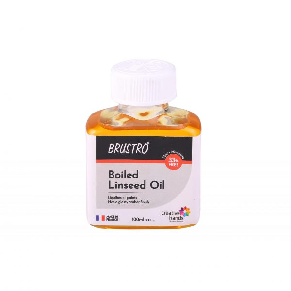 Brustro Professional Boiled Linseed Oil 100ml (75ml)